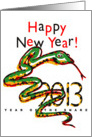 Happy New Year! 2013 Year of the Snake card