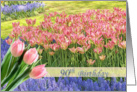 90th Birthday - tulip's field card