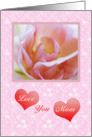 Flower and hearts Mother's Day card