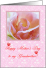 Flower and hearts for Grandma on Mother's Day card