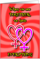 Girl 2 Girl - Together card