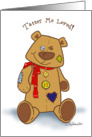 loved teddy card