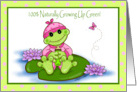 growning up green girl card