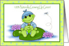 growning up green boy card