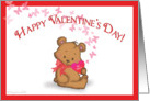 valentine teddy card