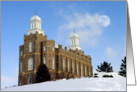 Logan LDS Temple in Snow card