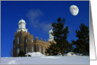 Logan LDS Temple in Winter card