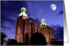 Logan LDS Temple - Night Time card
