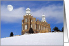 Logan LDS Temple - Winter Snow card
