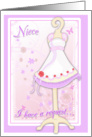Niece, Will You Be My Flower Girl? Pink Flowergirl Dress card