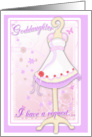 Goddaughter, Will You Be My Flower Girl? Pink Flowergirl Dress card