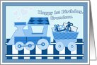 Grandson's 1st Birthday-Blue Train card