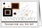 Happy Anniversary- Employee card