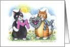 Cats Spelling MOM (Bud & Tony) card