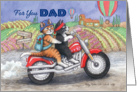 For You Dad Happy Father's Day Cats (Bud & Tony) card