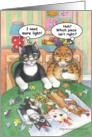 Old Cats Jigsaw Puzzle Birthday (Bud & Tony) card