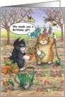Garden Cats Birthday (Bud & Tony) card