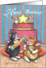 Musical Birthday Cats (Bud & Tony) card