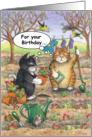 Birthday Garden Cats (Bud & Tony) card