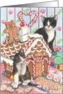 Gingerbread House Kitties card