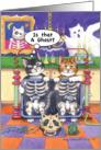 Halloween XRay Cats Bud & Tony W/Caption card