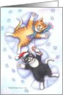 Christmas Snow Angel Cats (Bud & Tony) card