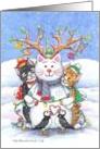 Christmas Snowman Cats (Bud & Tony) card