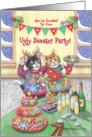 Ugly Christmas Sweater Party Cats Invitation (Bud & Tony) card