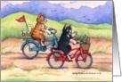 Bicycle Riding Cats Birthday (Bud & Tony) card