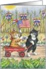 4th Of July Parade Cats (Bud & Tony) card