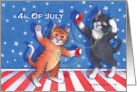 4th Of July Cats (Bud & Tony) card