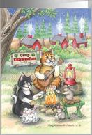 Camp Thinking Of You Cats (Bud & Tony) card