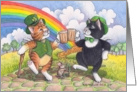 Cats On St. Patrick's Day Cheers (Bud & Tony) card