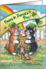 Cats On St. Patrick's Day W/Pot 'o' Gold (Bud & Tony) card