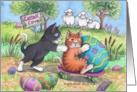 Cats Easter Egg Roll (Bud & Tony) card