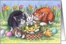 Cats Easter W/animal Friends (Bud & Tony) card
