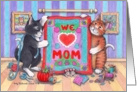 Cats & Mother's Day Quilt (Bud & Tony) card