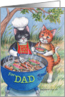 Cats & Father's Day BBQ (Bud & Tony) card