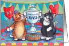 Cats W/Father's Day Trophy (Bud & Tony) card