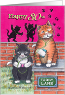 Cats 30th Birthday Rockin Out (Bud & Tony) card