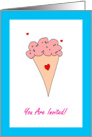 Birthday Party Invitation, You Are Invited, Ice Cream Cone card