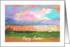 Friend, Happy Easter, April Showers, Abstract Art Landscape card