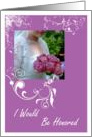 Sister Bridesmaid Maid Of Honor Request card