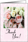 Thank You Wedding Gift - Pink Roses card