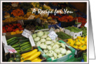 Vegetable Market Recipe card