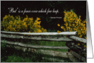 Split Rail Fence Congratulations card