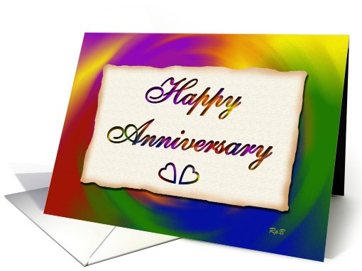 Happy Anniversary, Rainbow Swirl