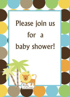 King of the Jungle Baby Shower Invitation Greeting Card
