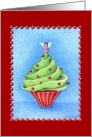 Christmas Tree Cupcake card