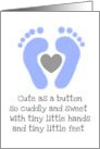Baby Boy congratulations baby feet card